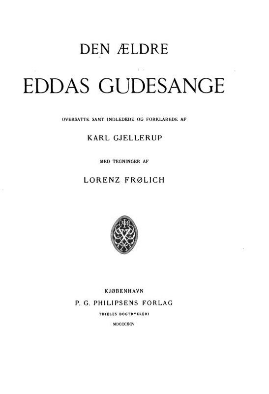 Traduction de l'Edda poétique par Karl Gjellerup