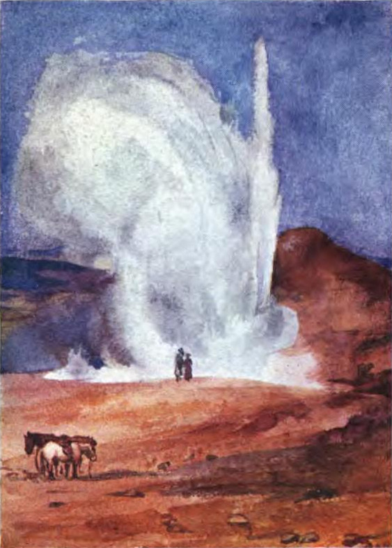 Mrs. Disney Leith, The-eruption-of-the-great-Geyser
